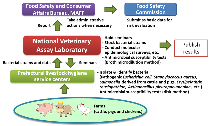 Figure 3. System for antimicrobial resistance monitoring in diseased food-producing animals